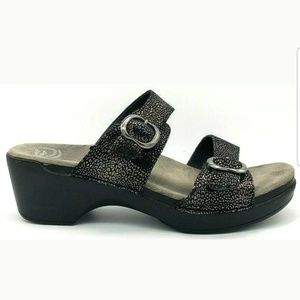 Dansko Womens Sophie Heeled Sandal Slip On Buckle